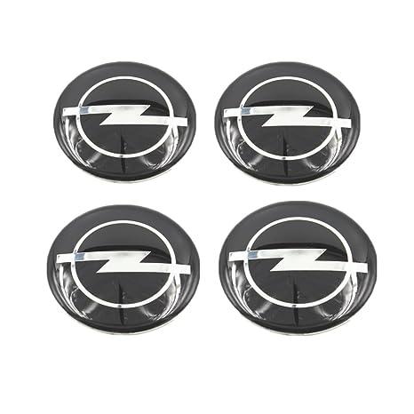 Opel 4 Stück 55mm Aufkleber Emblem Für Felgen Nabendeckel Radkappen