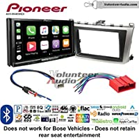 Volunteer Audio Pioneer AVH-W4400NEX Double Din Radio Install Kit with Wireless Apple CarPlay, Android Auto, Bluetooth Fits 2009-2013 Mazda 6