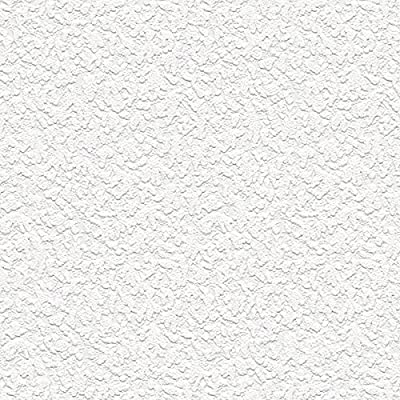"""Manhattan comfort NW48908 Emily Series Vinyl Textured and Paintable Design Large Wallpaper Roll, 21"""" W x 33' L, White"""