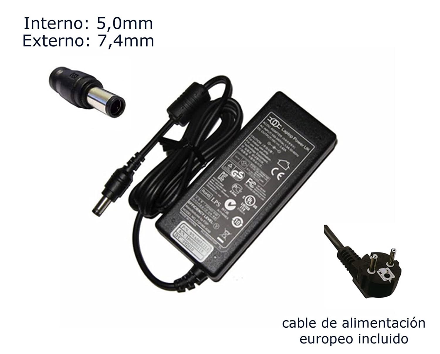 Cargador de portátil HP Elitebook 8760w 8770w 8730w 8740w (All Models) adaptador, Ordenador Portatil transformador - Marca