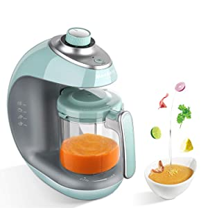 Maxkare Baby Food Maker 8 in 1 Meal Station for Toddlers with Steam,Blend,Juice,Warm,Puree,Chop,Disinfect,Clean Function, 20 Oz Tritan Stirring Cup,Built in Timer,Steam Cooker and Blender Processor