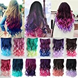 "CASSICAT® 23.6"" 1-pack 3/4 Full Head Curly Wave 5 Clips in on Synthetic Hair Extensions Hairpieces for Women"