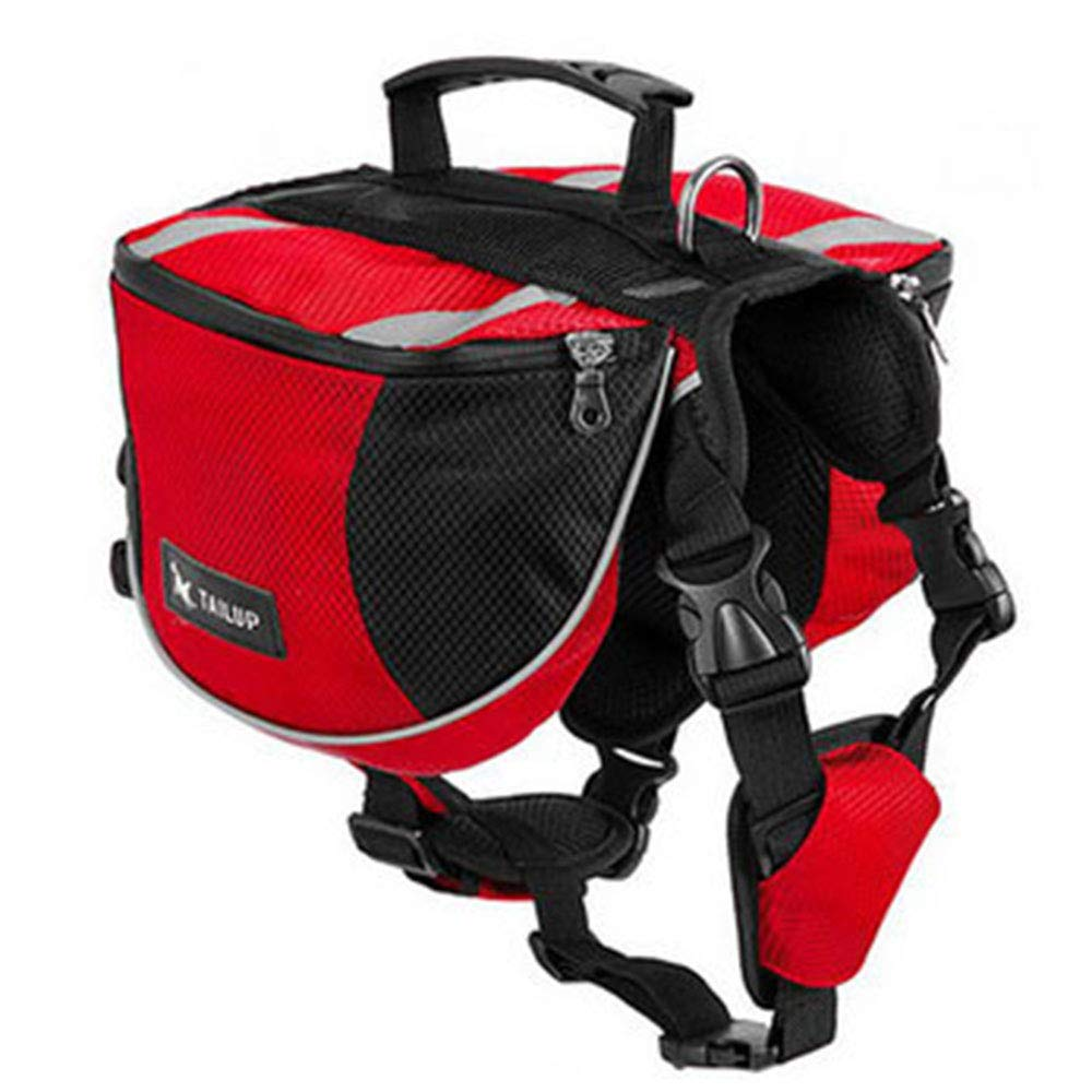 Red B L Red B L Yugoujiu Pet Backpack Oxford Cloth Self-Contained Bag Large Dog Outdoor Sports From Backpack,Red B,L
