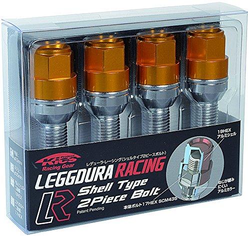 KYO-EI (協永産業) ホイールボルト LEGGDURA RACING Bolt 【 M12 x P1.5 】 テーパー : 12R 【 首下 : 40mm 】 ゴールド KIC6140A4 B00GQSBT5K ゴールド ゴールド