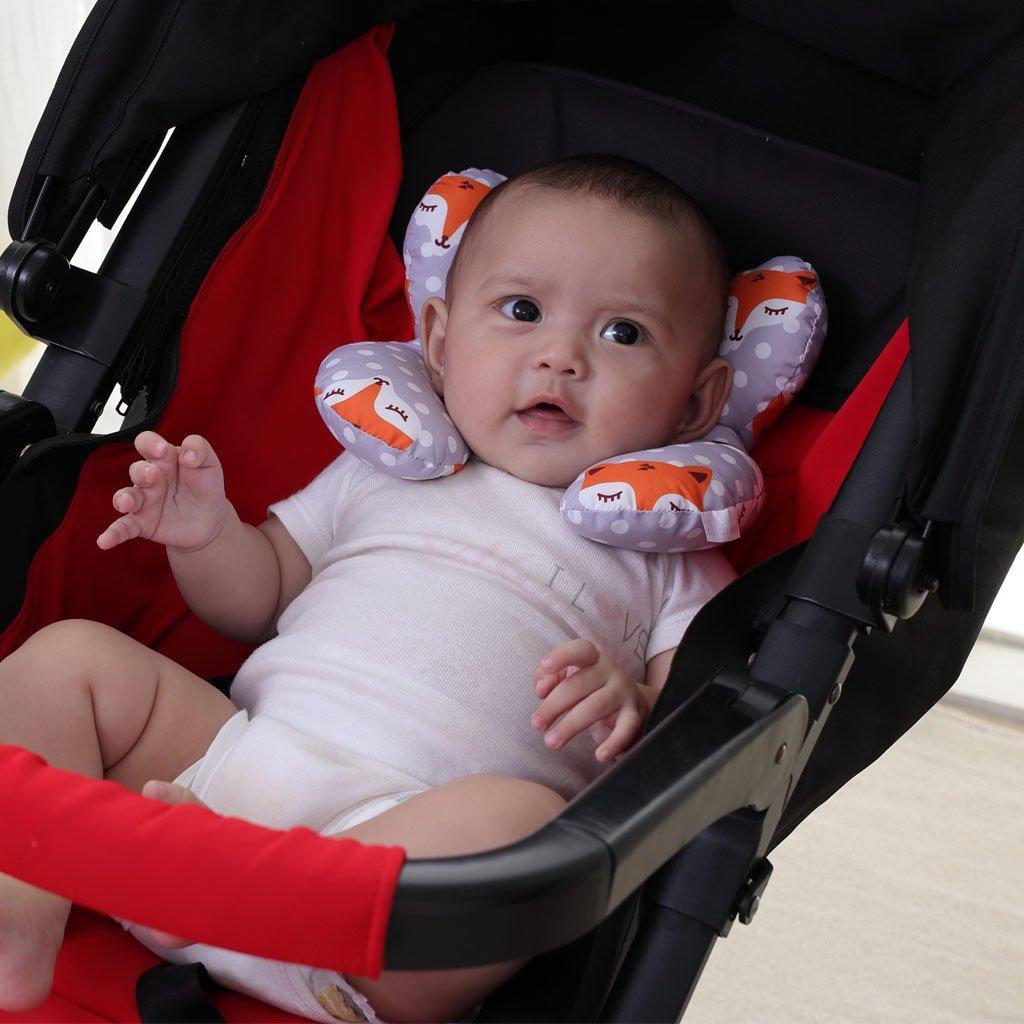 vocheer per seggiolino Auto Supporto per Testa e Collo Cuscino da Viaggio per Bambini per Neonati e Bambini da 0 a 1 Anno