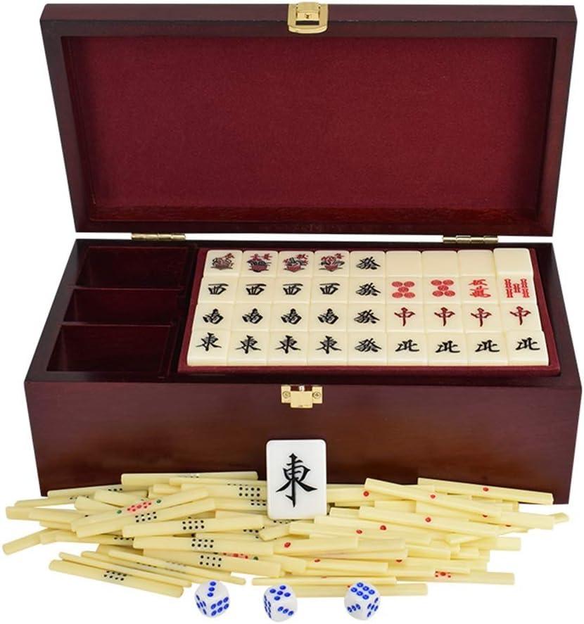 Mah Jong Mahjong144 Cartas Mahjong Box portátil Juego de Mesa multijugador Regalos de Alta Gama Juegos Tradicionales (Color : Beige, Size : 27 * 20 * 16mm): Amazon.es: Hogar