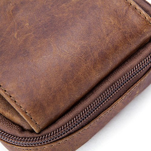 Messenger de Mens Christmas Shoulder Mans Lightweight Bag Father Bolsa Leather Black Crossbody Travel Zhhlaixing hombro Mini Briefcase Adjustable Gifts 6wxSx7B