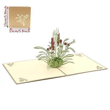 Kuangkk Tarjeta De Felicitación 3d De Daffodil Para Invitaciones