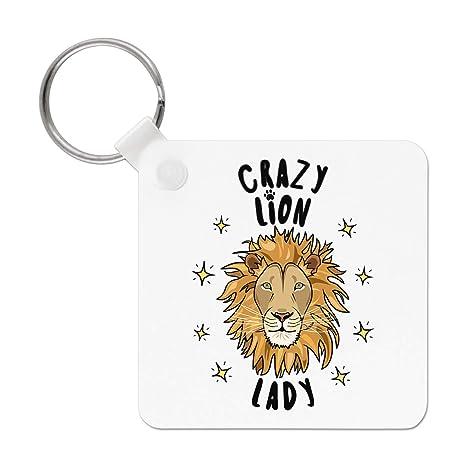 Regalo Base Crazy León Señora Estrellas Llavero: Amazon.es ...