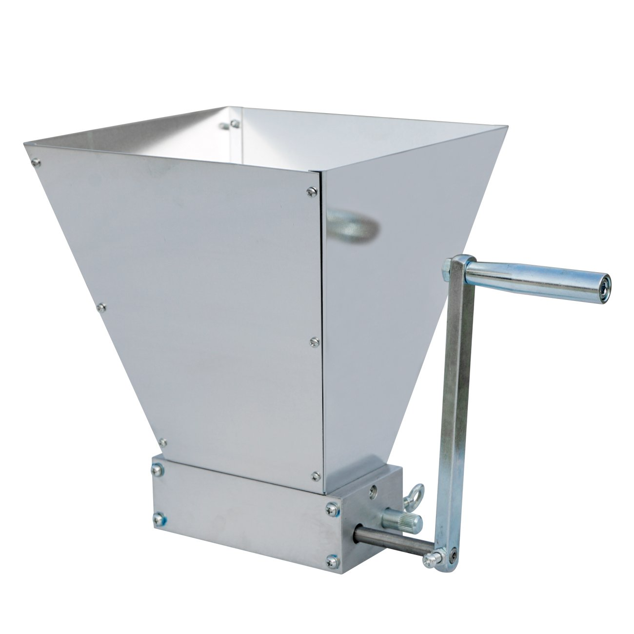 ECO-WORTHY 2 Roller Malt Mill Stainless Steel Barley Crusher Grain Grinder for Homebrew Beer by ECO-WORTHY
