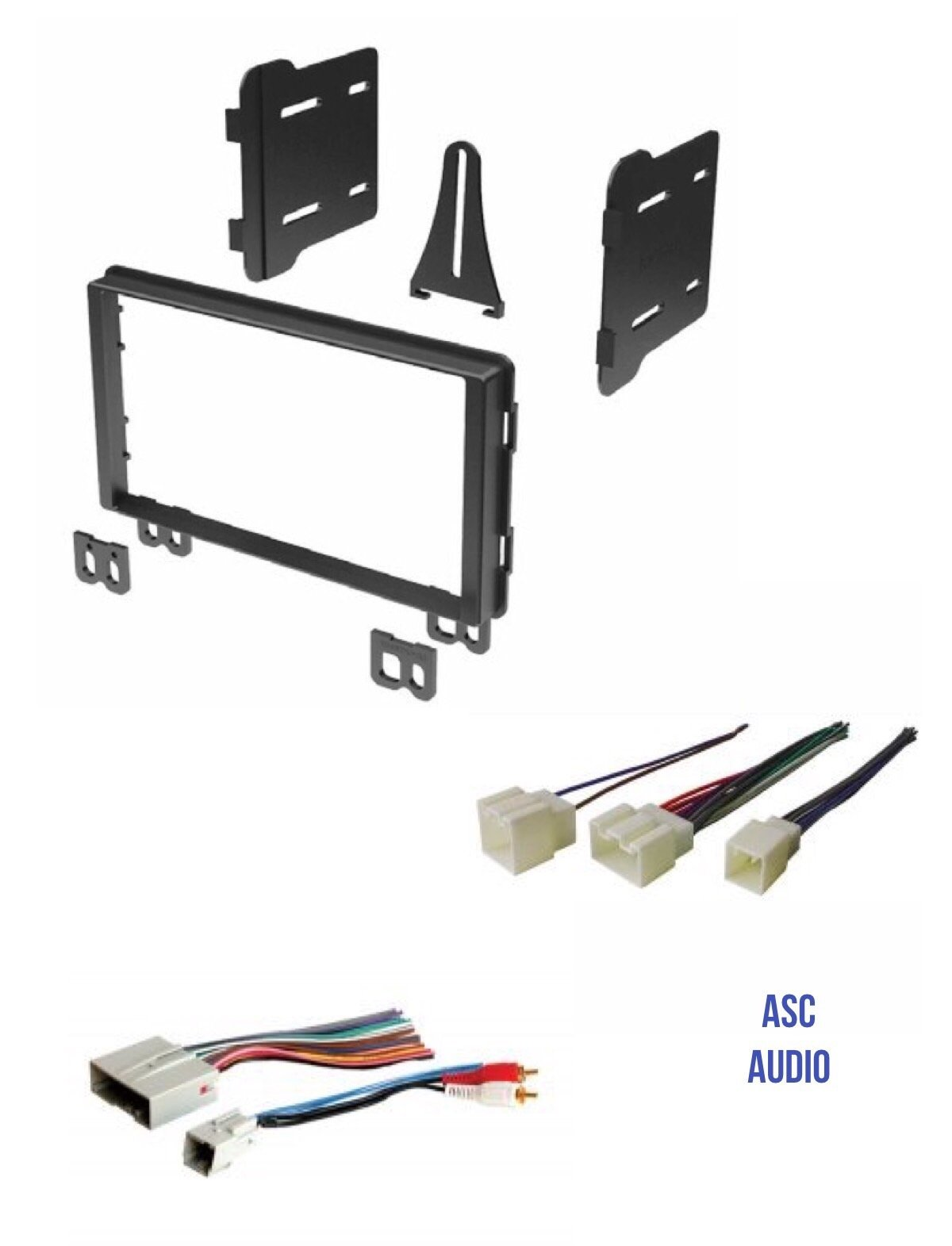ASC Audio Double Din Car Stereo Radio Install Dash Kit and Wire Harness for select Ford Lincoln Mercury Vehicles - Compatible Vehicles Listed Below