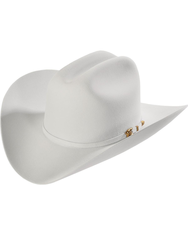 Larry Mahan Men's Light Grey 8X El Tigre Felt Cowboy Hat Lt Grey 6 7/8
