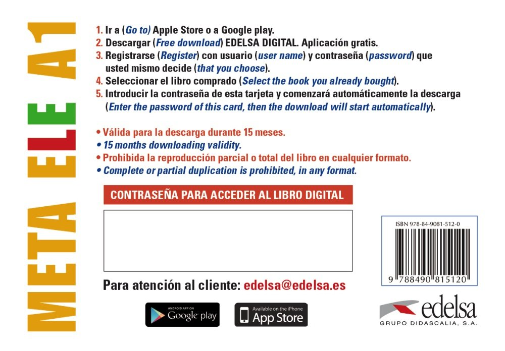 Meta ELE A1 - tarjeta app alumno: 9788490815120: Amazon.com ...