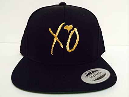 7c16c4842ba Image Unavailable. Image not available for. Color  XO The Weeknd Gold Snapback  Hat