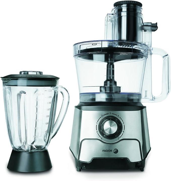 Fagor RT-1000 Robot cocina, 1000 W, 7 vel + pulse, 3.5 litros, Acero inoxidable, 7 Velocidades, Gris: Amazon.es: Hogar