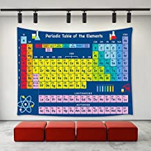 LBKT Periodic Table of Elements Tapestry Wall Hanging ,Custom Chemistry Elements Pattern Wall Decor Art Tapestries for Living Room Bedroom Dorm Home Decoration Size 90x60 inches