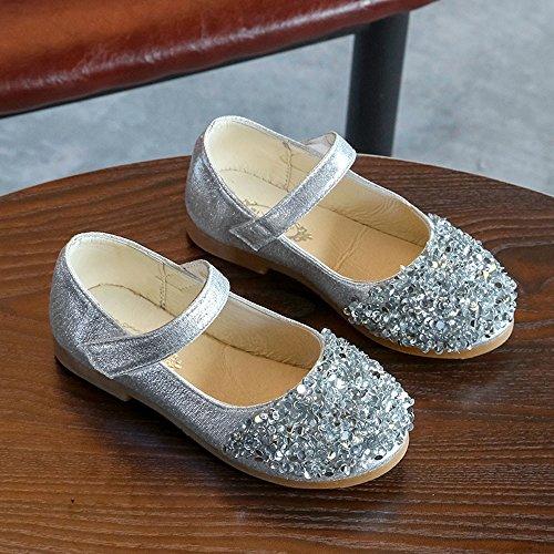 Pasos Cristal Bebe Zapatos Fiesta Princesa Plateado Individuales Para Nacido Blanda Primeros Bbsmile De Recién Suela cuero Antideslizante Niña Niño qYaw65
