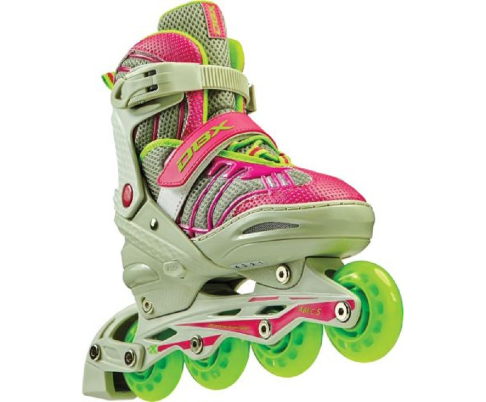 DBX Girls' Equinox Adjustable Inline Skate Package, Berry (LARGE) by DBX