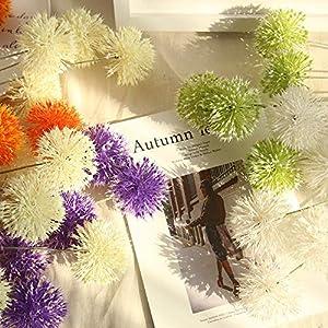 Fake Flowers Home Garden Kitchen Accessories Artificial Flora Plants Silk Dandelion Floral Wedding Bouquet Hydrangea Decor 62