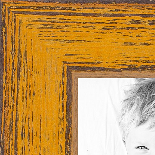 ArtToFrames 24x36 inch Butterscotch Rustic Barnwood Wood Pic