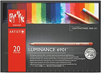 CREATIVE ART MATERIALS Caran D'ache Luminance 20 Colored Pencil Set