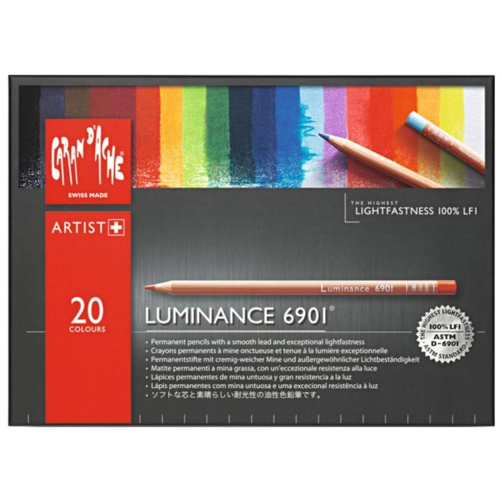 CREATIVE ART MATERIALS Caran D'ache Luminance Colored Pencil Set of 20 (6901.720) by Creative Art Materials