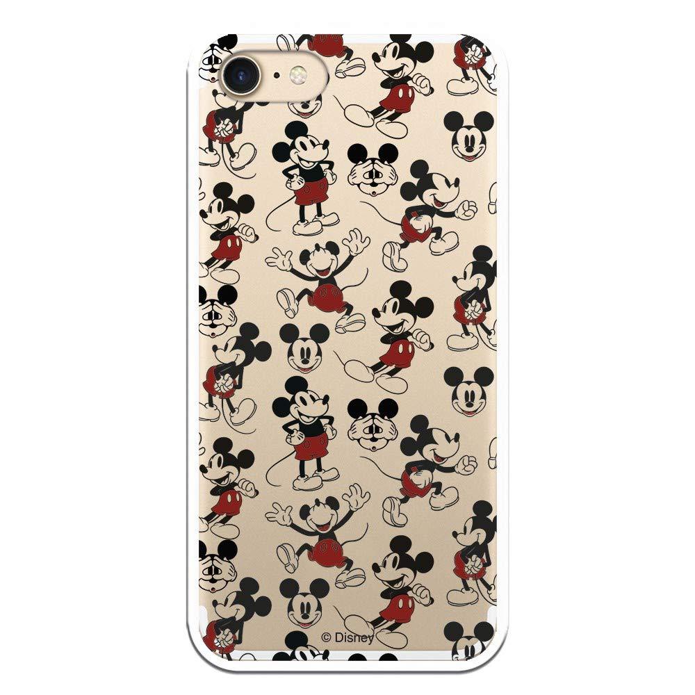 Carcasa Oficial de Disney Mickey Patrón Clear para iPhone 7-8 - La Casa de Las Carcasas