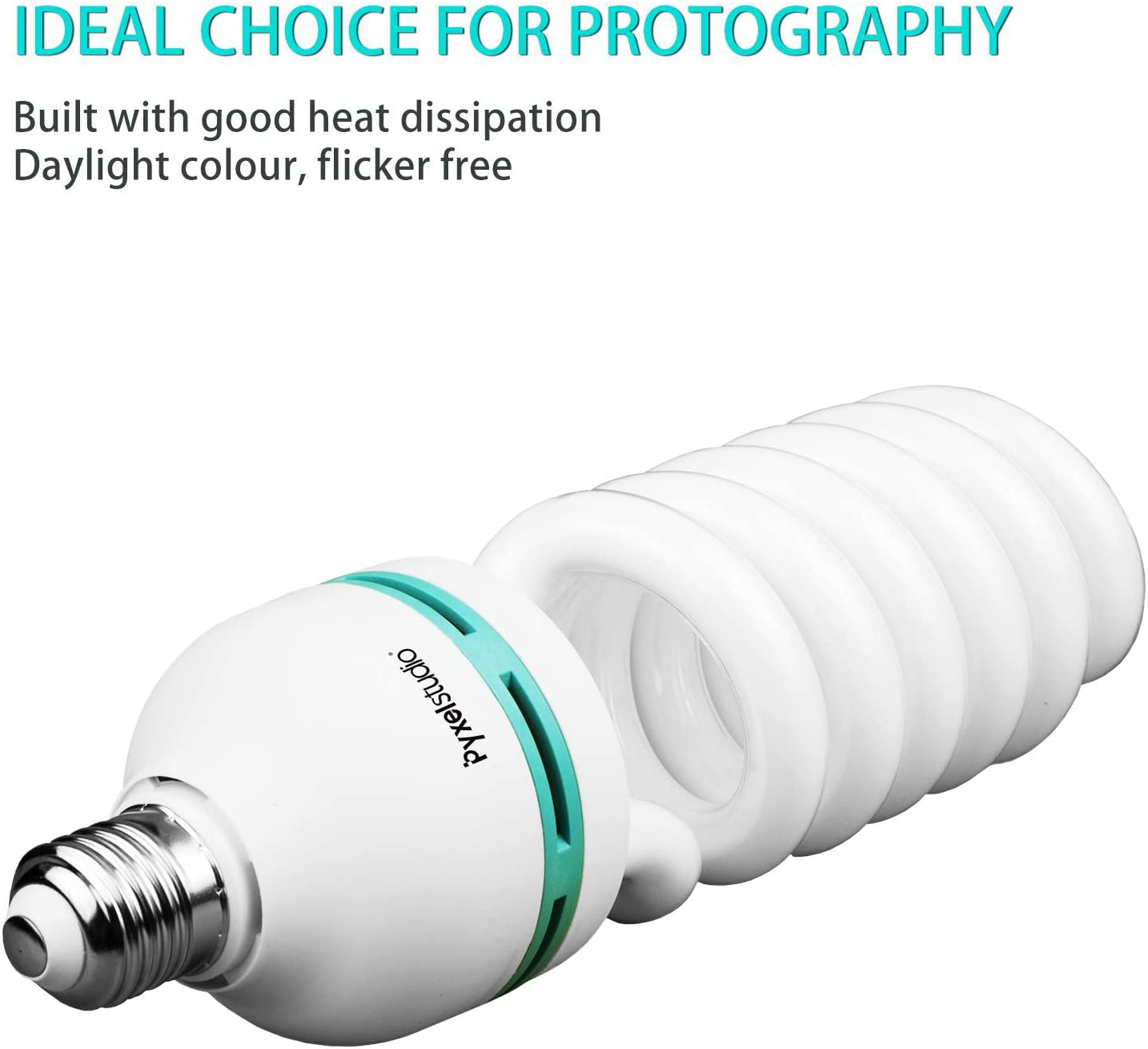 E27 5500k 135w Fotostudio Birne Video Fotografie Helle Tageslichtlampe E27 135w Glühbirne Küche Haushalt