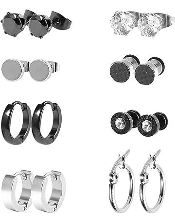 photos officielles qualité supérieure conception populaire Boucles d'oreilles pour homme : Amazon.fr
