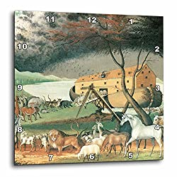 3dRose DPP_126877_1 Noahs Ark by Edward Hicks American Art Wall Clock, 10 by 10-Inch