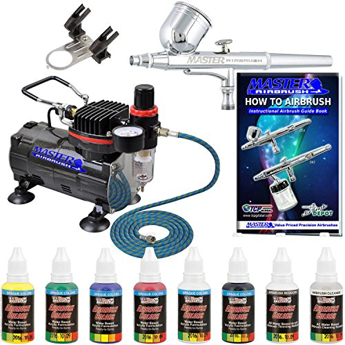 Feed Airbrush Kit (Professional Master Airbrush Multi-Purpose Gravity Feed Airbrushing System Kit with a U.S. Art Supply 6 Primary Opaque Colors Acrylic Paint Artist Set - G22 Gravity Feed Airbrush and Air Compressor)