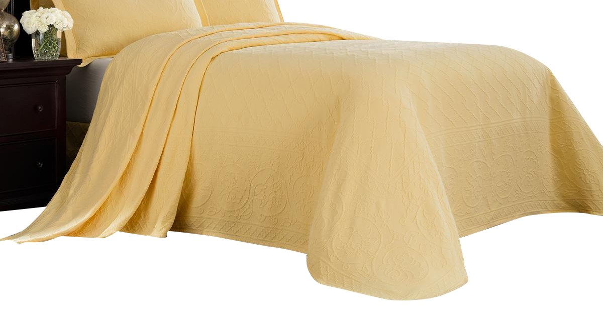 (Full, Yellow) - Williamsburg 048975018279 Full Richmond Bedspread - Yellow Full Richmond Bedspread,Yellow B06X6JDLVH イエロー フル