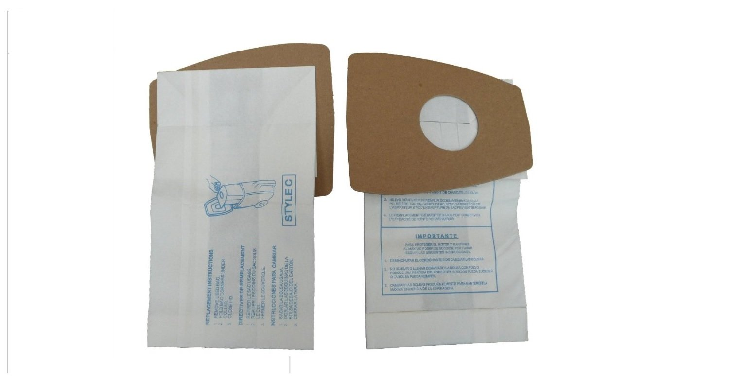 3 Eureka Style C Premium American Made Mighty Mite Canister Vacuum Bags, 3pk. Fits Eureka Type C Part 52318, 52318-12, 57697-12 Filteraire, 54921-10, 54021-10