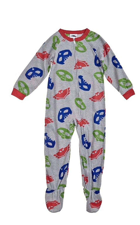 c8faa8e9c7 Amazon.com  Boy s Toddler 3T PJ Masks Print Fleece Footed Blanket Pajama  Sleeper  Clothing