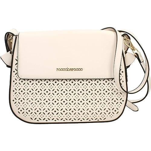 df7aa20ee4 RoccoBarocco ROBS2JW04 Borsa A Spalla Donna bianco UNICA: Amazon.it: Scarpe  e borse