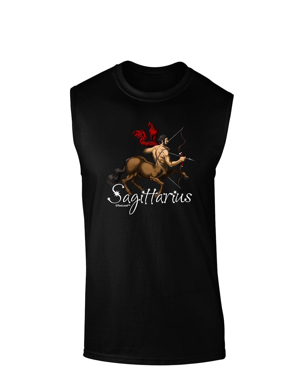 TooLoud Sagittarius Color Illustration Dark Muscle Shirt