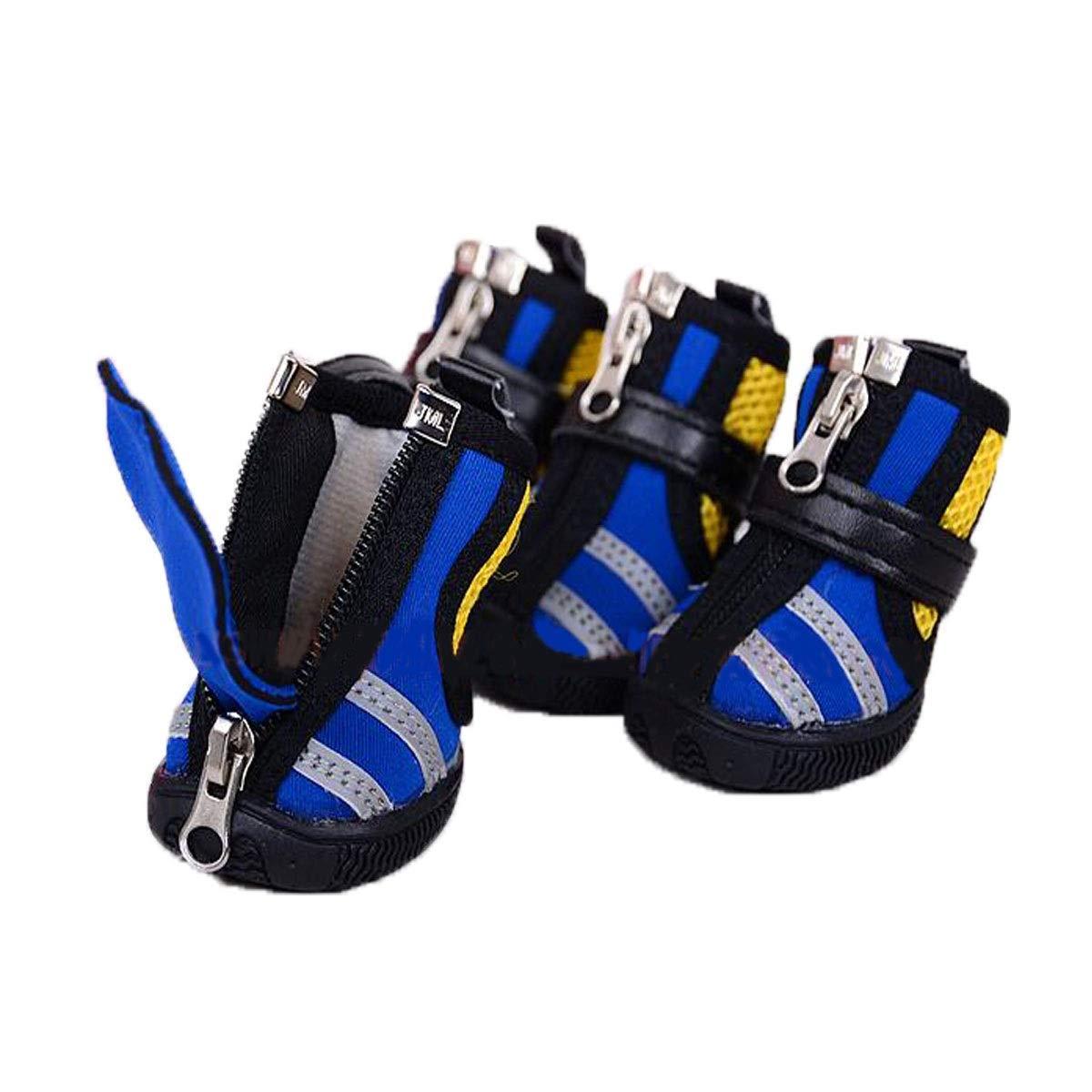 bluee No.5 bluee No.5 Muziwenju Dog shoes, Dog Sneakers, Medium Dog Casual Waterproof shoes, Dog Walking shoes, Pet Supplies, Red, bluee, Brown (1-5 (color   bluee, Size   No.5)