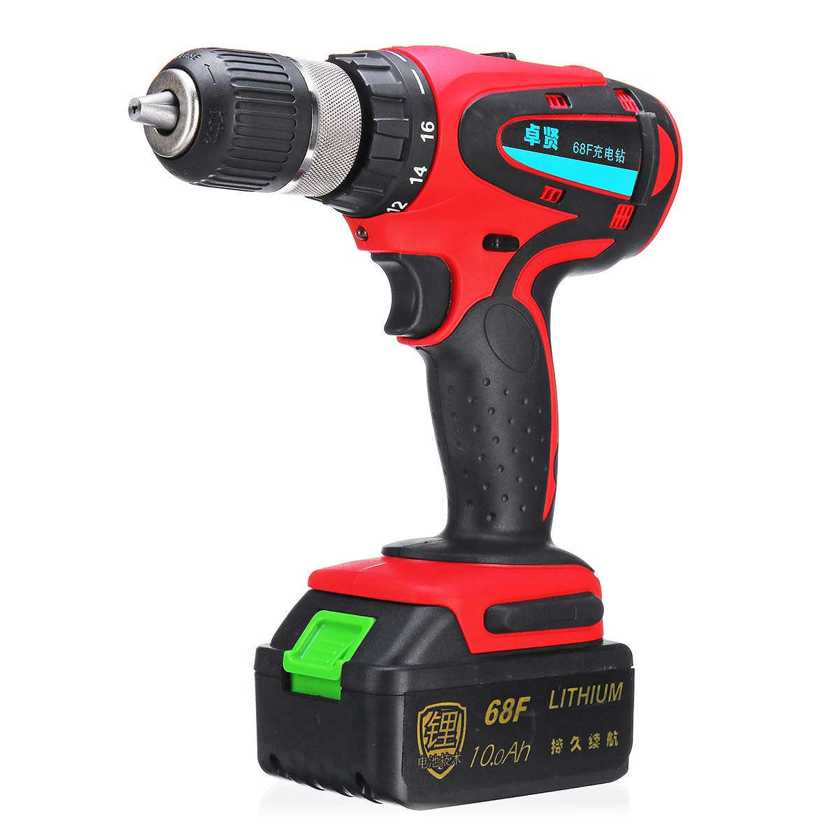 68V 1000mAh Cordless Rechargeable Electric Drill 2 Speed Heavy Duty Torque Power Drills OlogyMart OlogyMart1403940