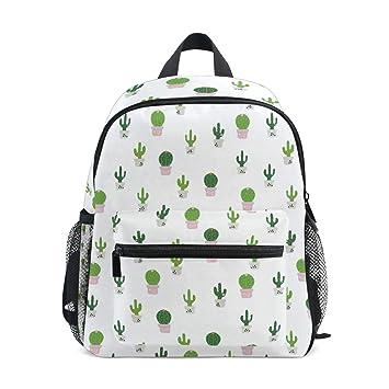 Amazon.com: Mochila de viaje para niños con diseño de cactus ...