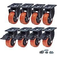 CoolYeah Rueda de rotación de 75mm,rueda PVC,clase industrial,rueda