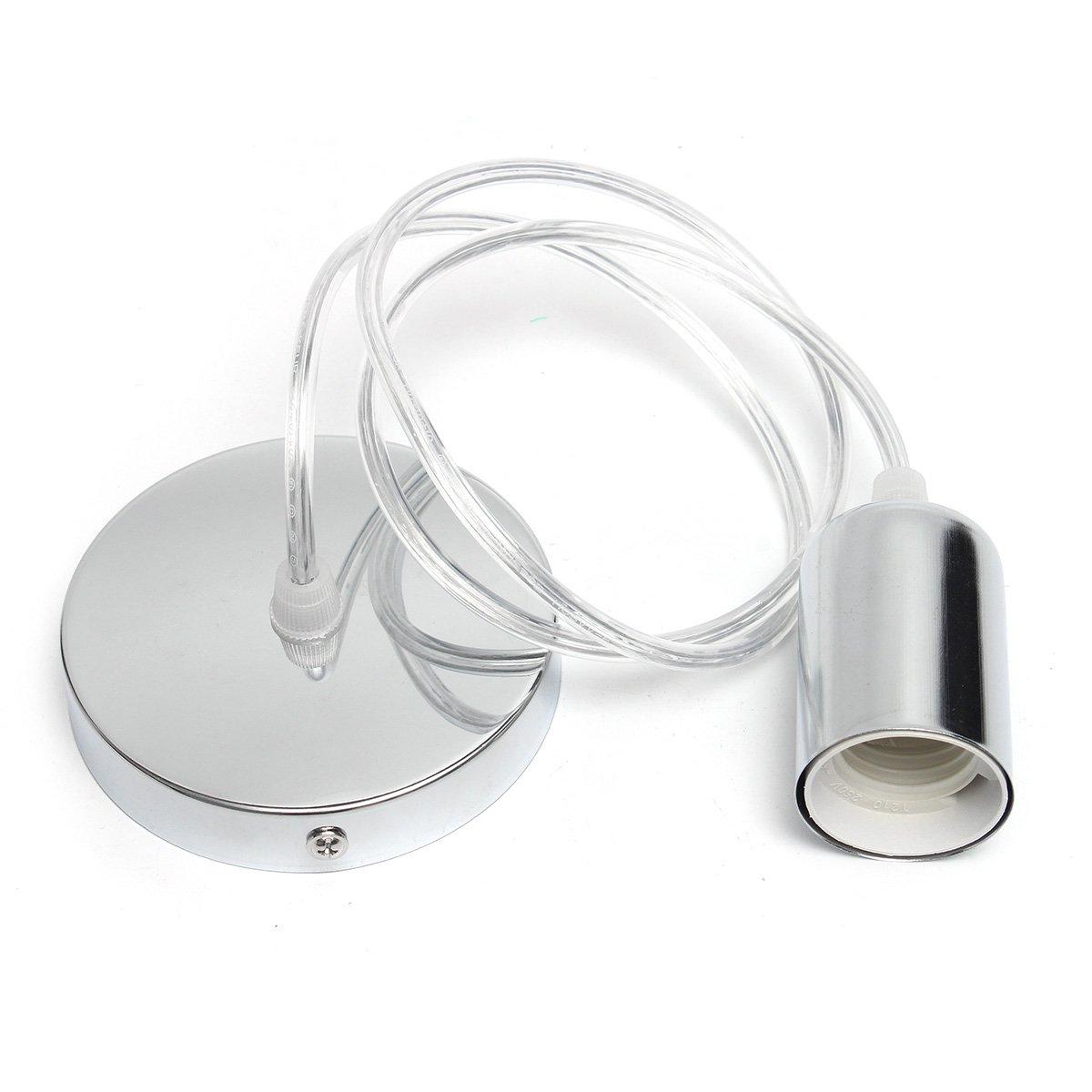 Cable para Luz Lámpara del Techo, EIVOTOR 1 metro E27 Portalámparas, Accesorios de La Lámpara DIY, Aplicable a Grandes Luces Decorativas en Forma de Bola, ...