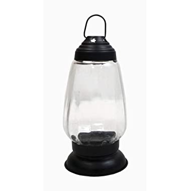 Deco 89 Medium Lean & Sleek Candle Lantern, 5.5  x 5.25  x 8 , Black
