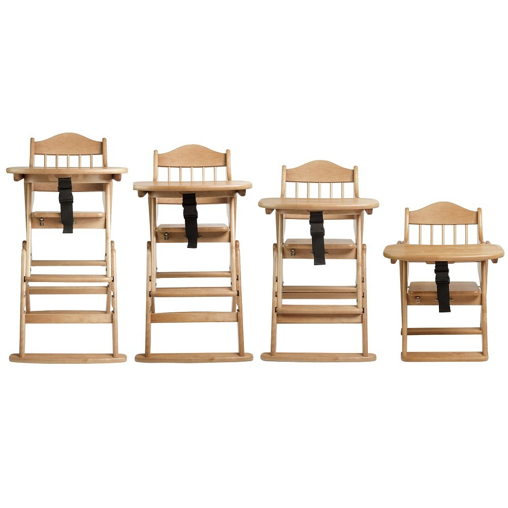 Safetots Multi Height Folding Wooden High Chair, Natural Wood:  Amazon.co.uk: Baby