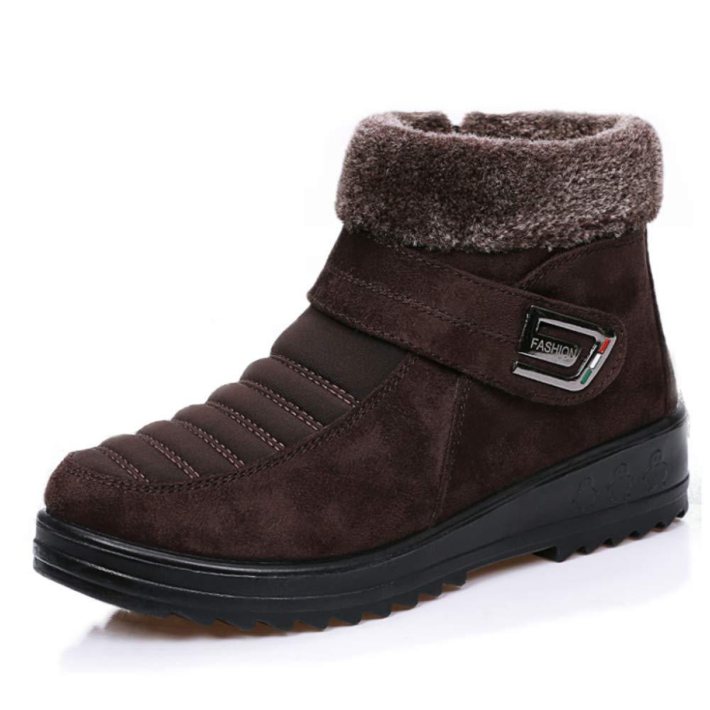PLNXDM Stiefel Der Frauen-Schnee-Aufladungen Winter-Warme Aufladungen Wasserdichte Rutschfeste Chelsea-Aufladungen Im Freien