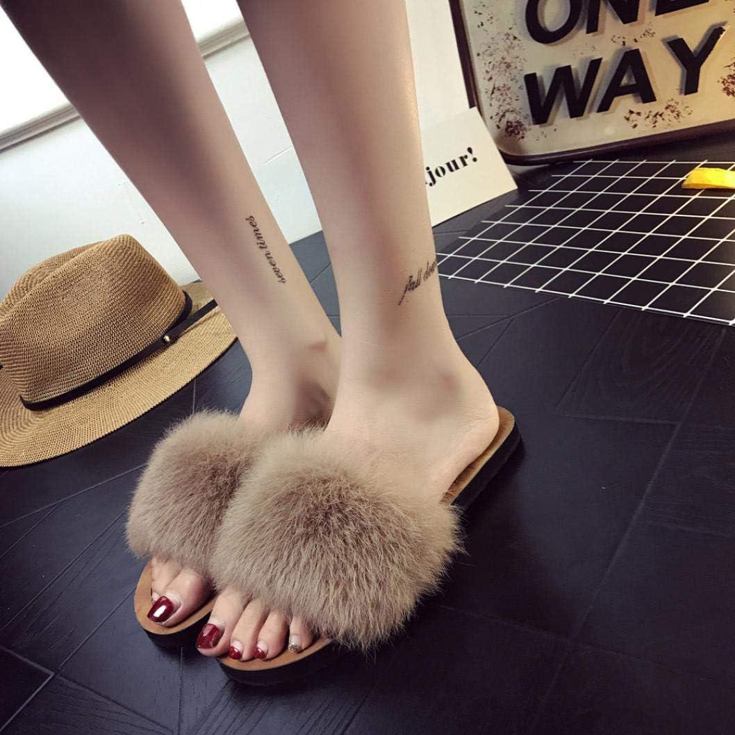 Ciabatte da Donna Honestyi /® Slip On Sliders in Soffice Pelliccia Ecologica Sandal Casual con Piatto Pantofola Flip Flops Pantofola Donna Scarpe da Spiaggia Sandali Scarpe Basse