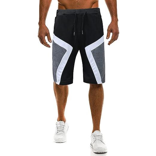 5cface9e9544e Amazon.com: Leedford Spliced Shorts Harem Pants Basketball Shorts ...