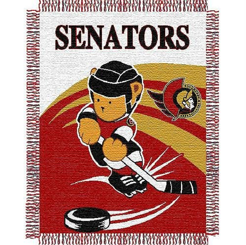 NHL Ottawa Senators Original Woven Jacquard Baby Throw, 36