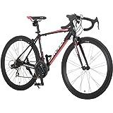 CANOVER(カノーバー) ロードバイク 700C シマノ21段変速 CAR-015(UARNOS) アルミフレーム フロントLEDライト付  [メーカー保証1年]