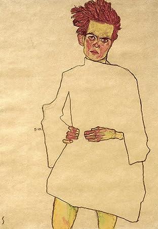 Egon Schiele-Selbstportrait Vintage Wall Art Poster Impression Photo Giclee