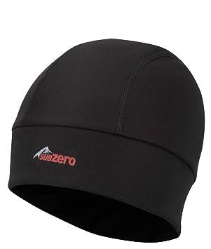 ef3df8dfc70 SUB ZERO Factor 4 Lightweight Thermal Insulating Warm Windproof Winter  Beanie Hat Black One Size